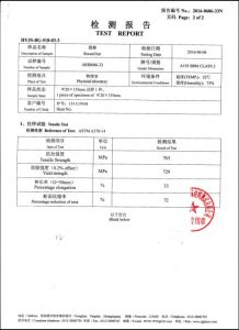 A193 B8M CL2 sertifikatas