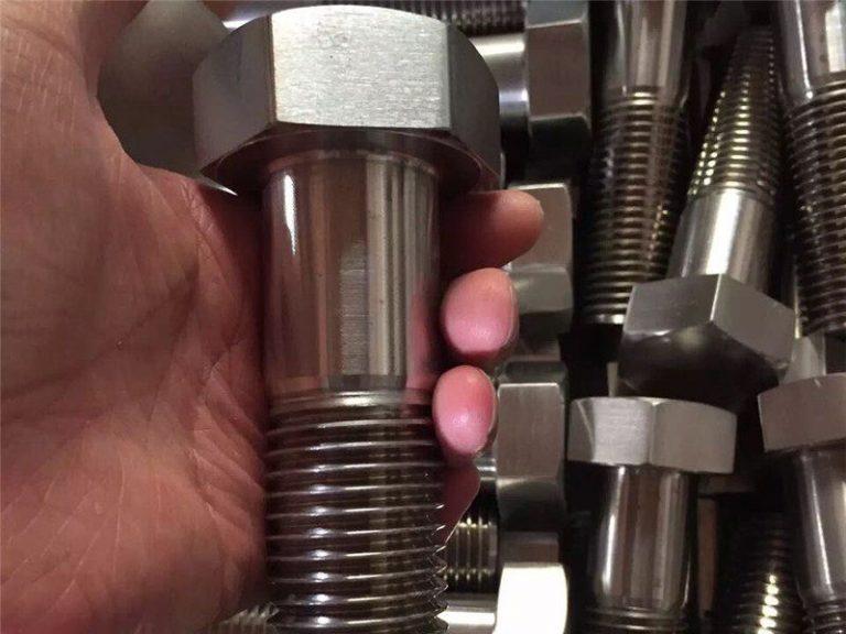 incoloy 825 lt 2.4858 nerūdijančio plieno varžto varžtas. tvirtinimo elementas inconel718 en2.4668