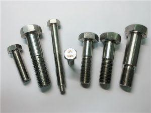 Nr.25-Incoloy a286 šešiabriauniai varžtai 1.4980 a286 tvirtinimo detalės gh2132 nerūdijančio plieno aparatinės mašinos varžtiniai tvirtinimai