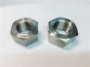 Nr.76 Duplex 2205 F53 1.4410 S32750 nerūdijančio plieno tvirtinimo detalės sunkioji šešiabriaunė veržlė