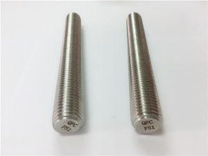 Nr.77 Duplex 2205 S32205 nerūdijančio plieno tvirtinimo detalės DIN975 DIN976 srieginės strypai F51