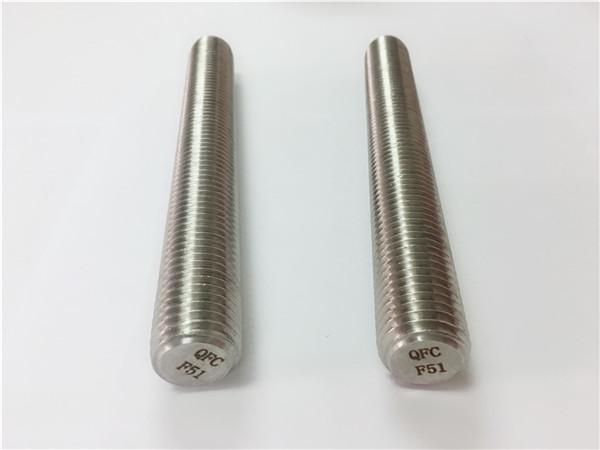 duplex2205 / s32205 nerūdijančio plieno tvirtinimo detalės din975 / din976 srieginės strypai f51