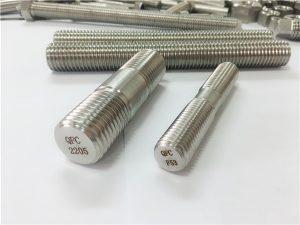 Nr. 80 dvipusis 2205 S32205 2507 S32750 1.4410 aukštos kokybės aparatūros tvirtinimo elementas medinis srieginis strypo inkaras