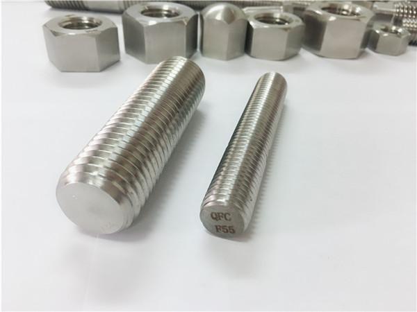 f55 / zeron100 nerūdijančio plieno tvirtinimo detalės su sriegiu s32760
