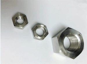 Duplex 2205 / F55 / 1.4501 / S32760 nerūdijančio plieno tvirtinimo detalės sunkioji šešiabriaunė veržlė M20